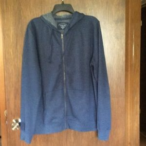 Zippered Denim Colored Medium Sweatshirt